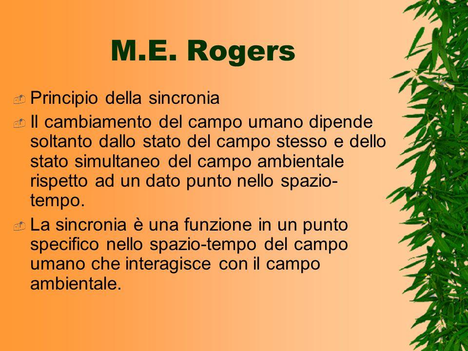 M.E. Rogers Principio della sincronia