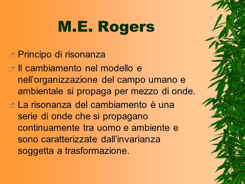 M.E. Rogers Principo di risonanza