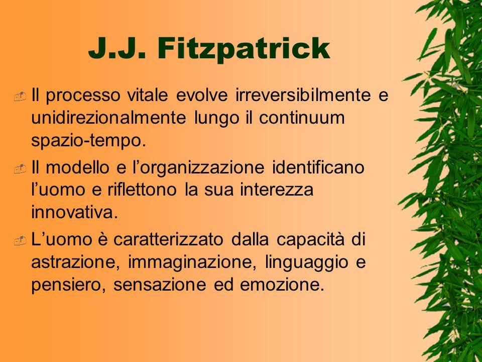 J.J. Fitzpatrick Il processo vitale evolve irreversibilmente e unidirezionalmente lungo il continuum spazio-tempo.