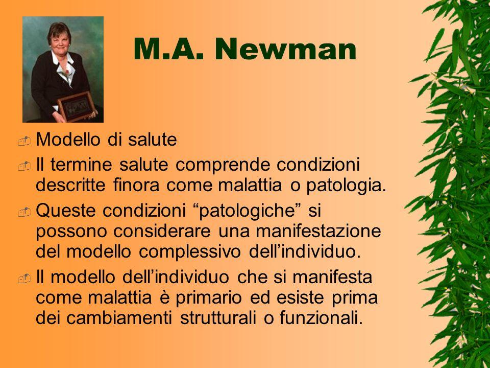 M.A. Newman Modello di salute