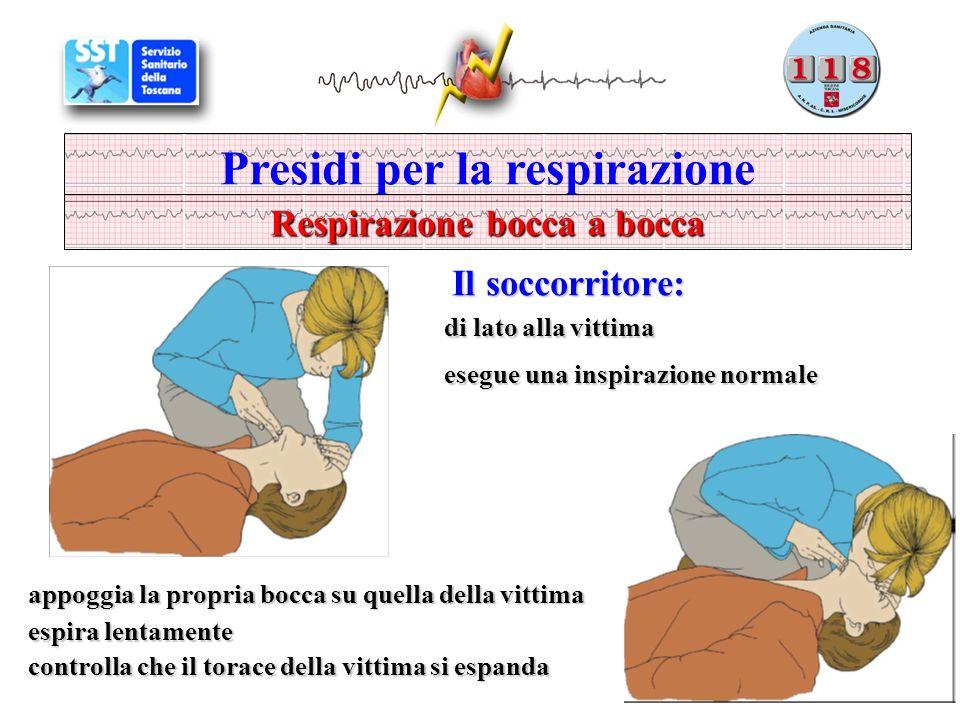 Presidi per la respirazione Respirazione bocca a bocca