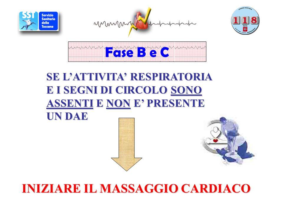 Fase B e C INIZIARE IL MASSAGGIO CARDIACO