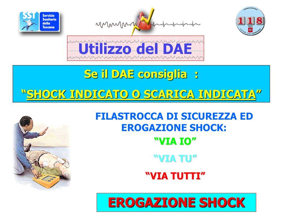 Utilizzo del DAE EROGAZIONE SHOCK Se il DAE consiglia :