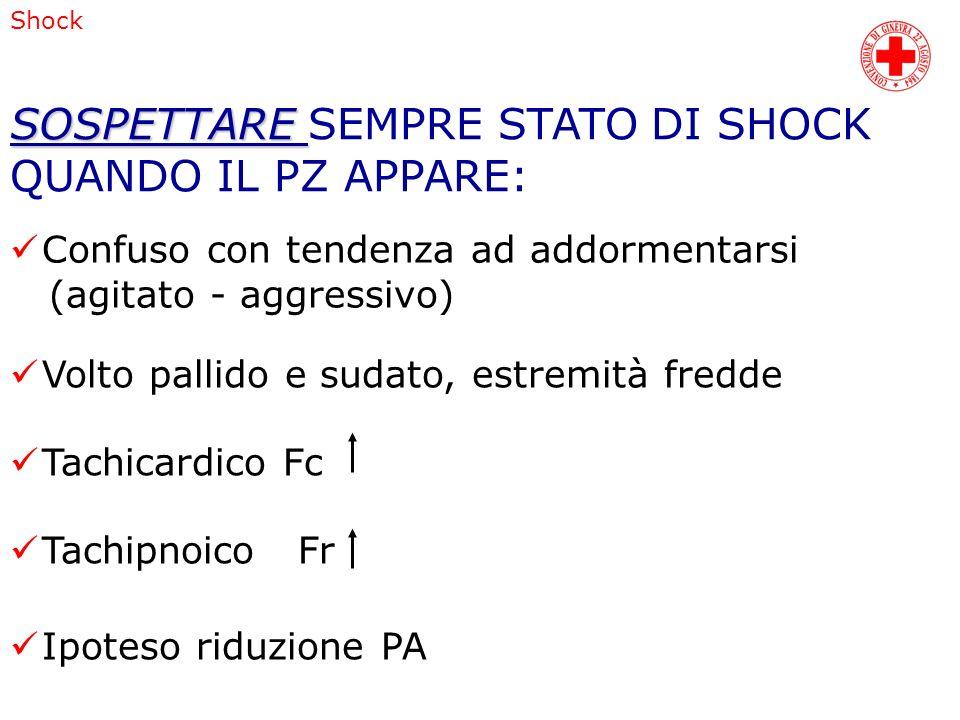 SOSPETTARE SEMPRE STATO DI SHOCK QUANDO IL PZ APPARE: