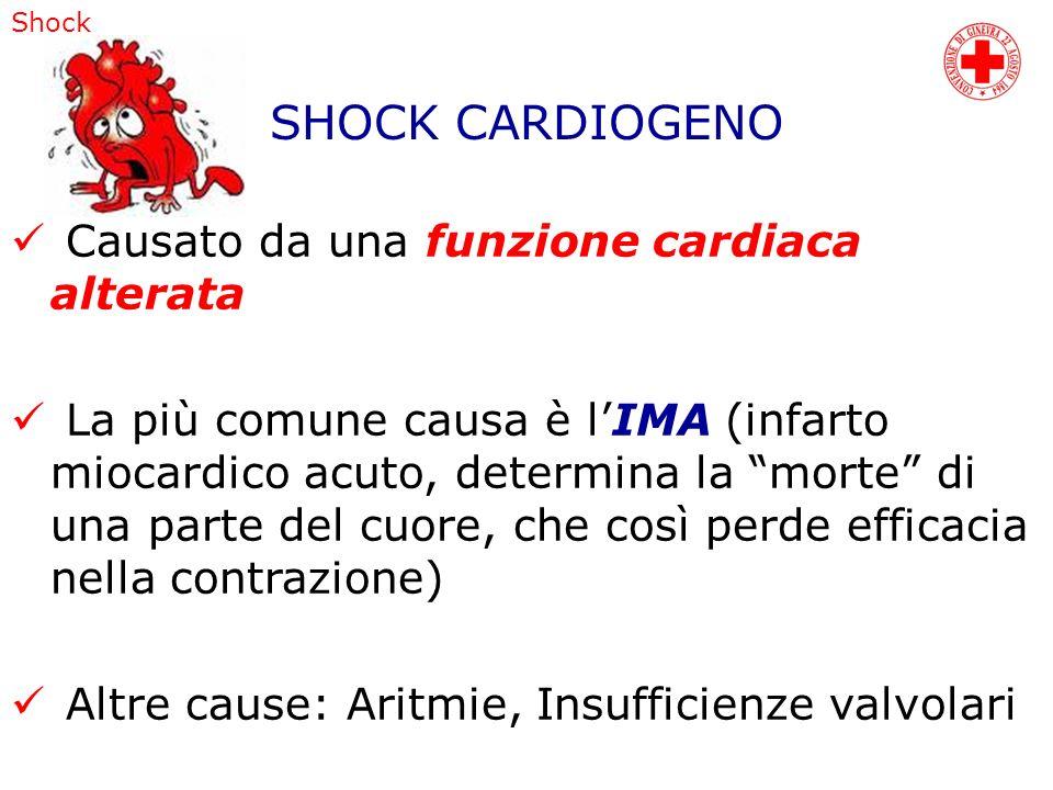 SHOCK CARDIOGENO Causato da una funzione cardiaca alterata
