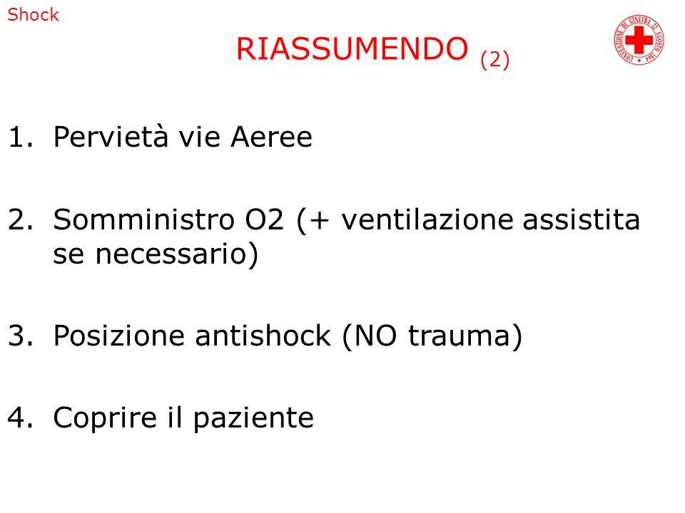 RIASSUMENDO (2) Pervietà vie Aeree