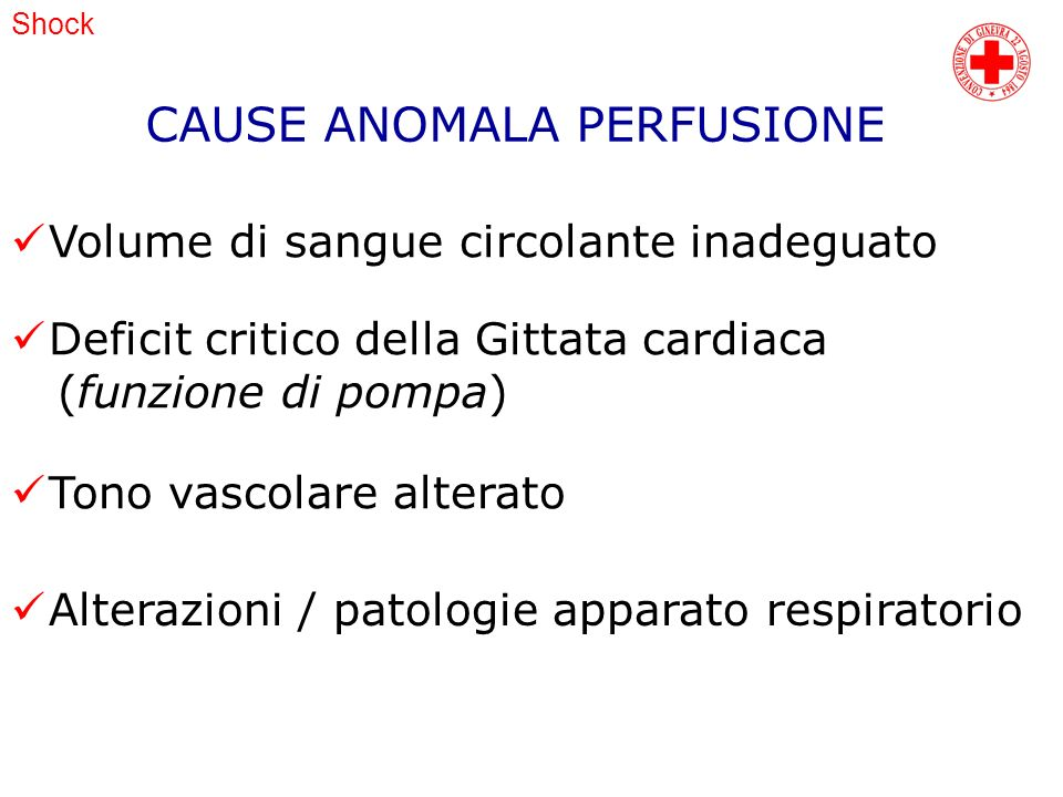 CAUSE ANOMALA PERFUSIONE