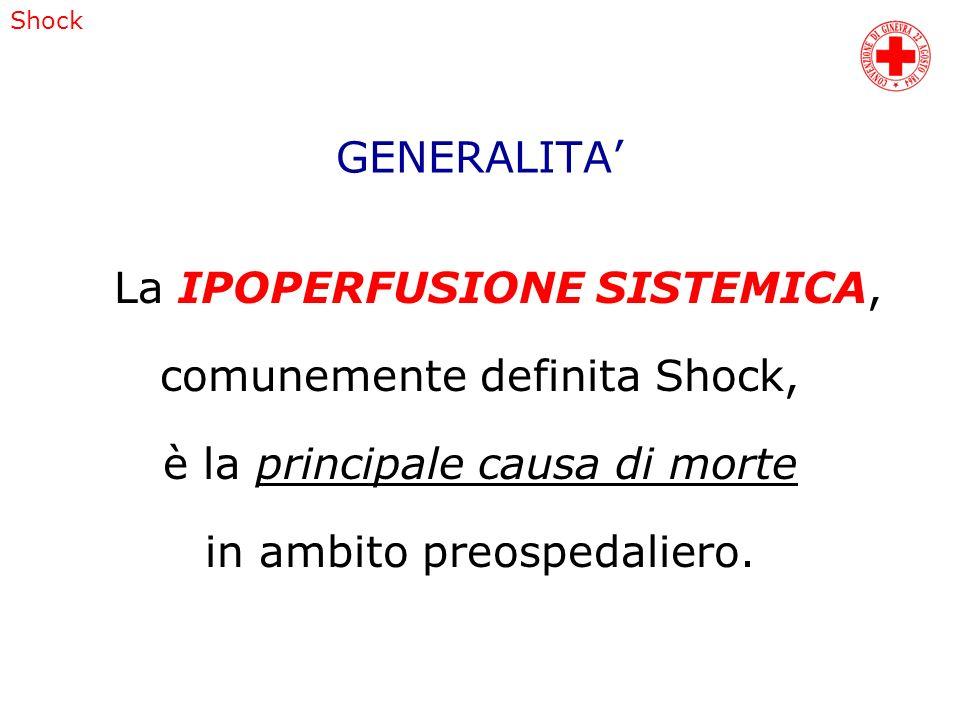 La IPOPERFUSIONE SISTEMICA, comunemente definita Shock,