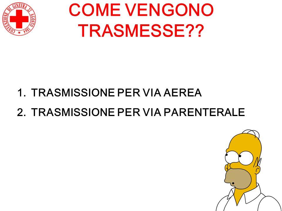 COME VENGONO TRASMESSE
