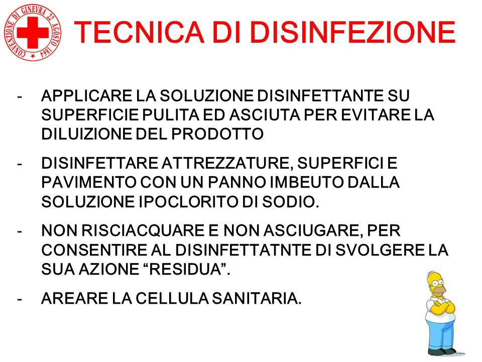 TECNICA DI DISINFEZIONE