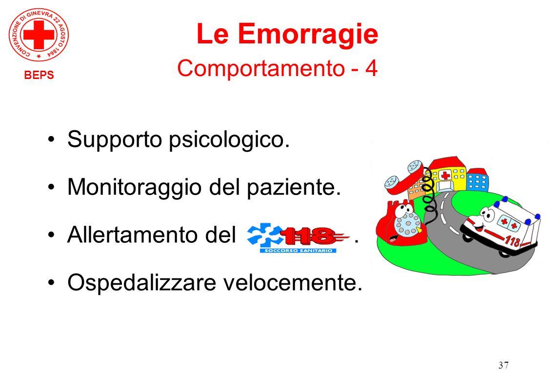 Le Emorragie Comportamento - 4 Supporto psicologico.