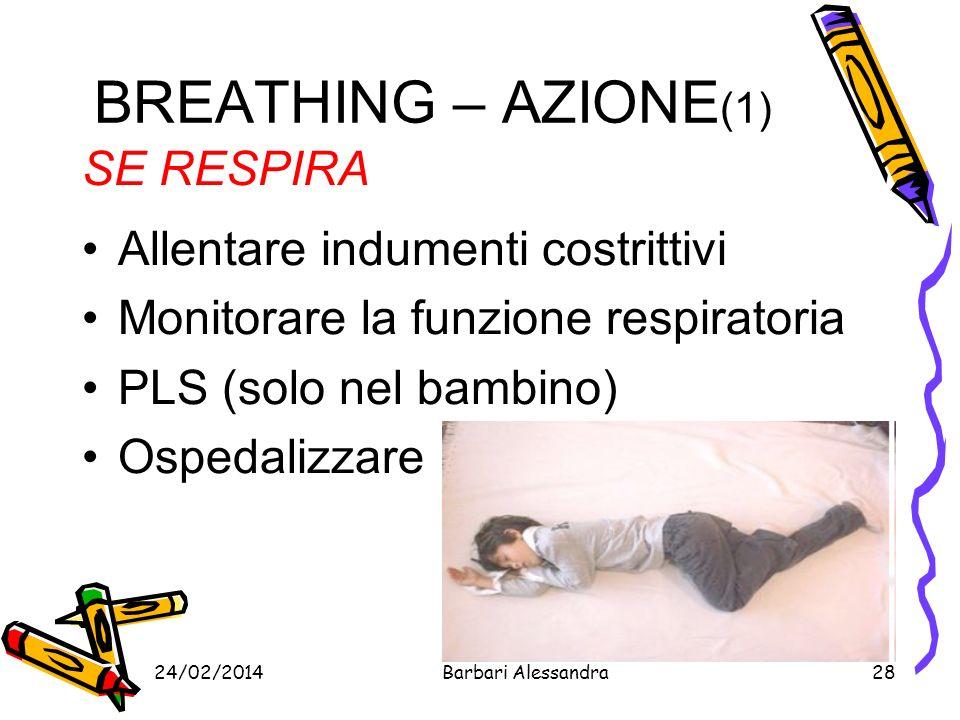 BREATHING – AZIONE(1) SE RESPIRA Allentare indumenti costrittivi