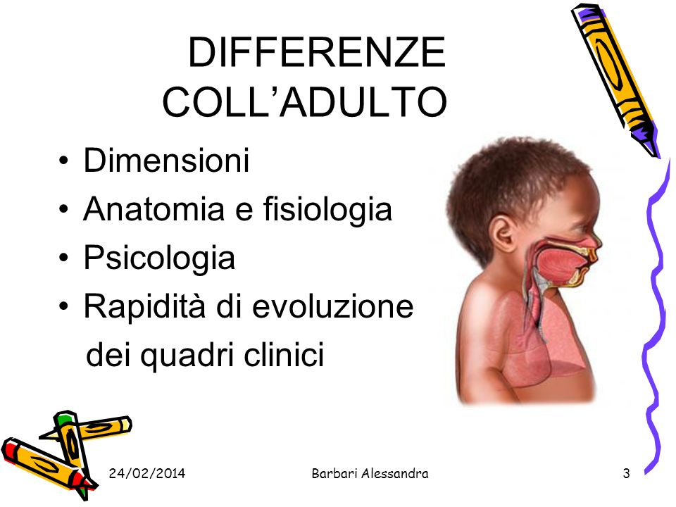 DIFFERENZE COLL'ADULTO