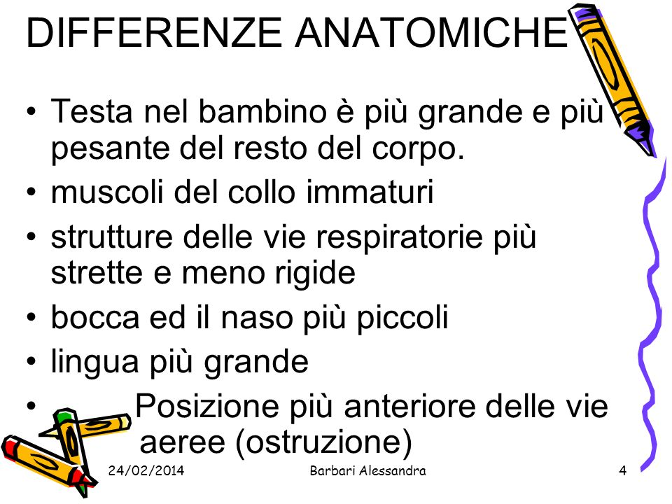 DIFFERENZE ANATOMICHE