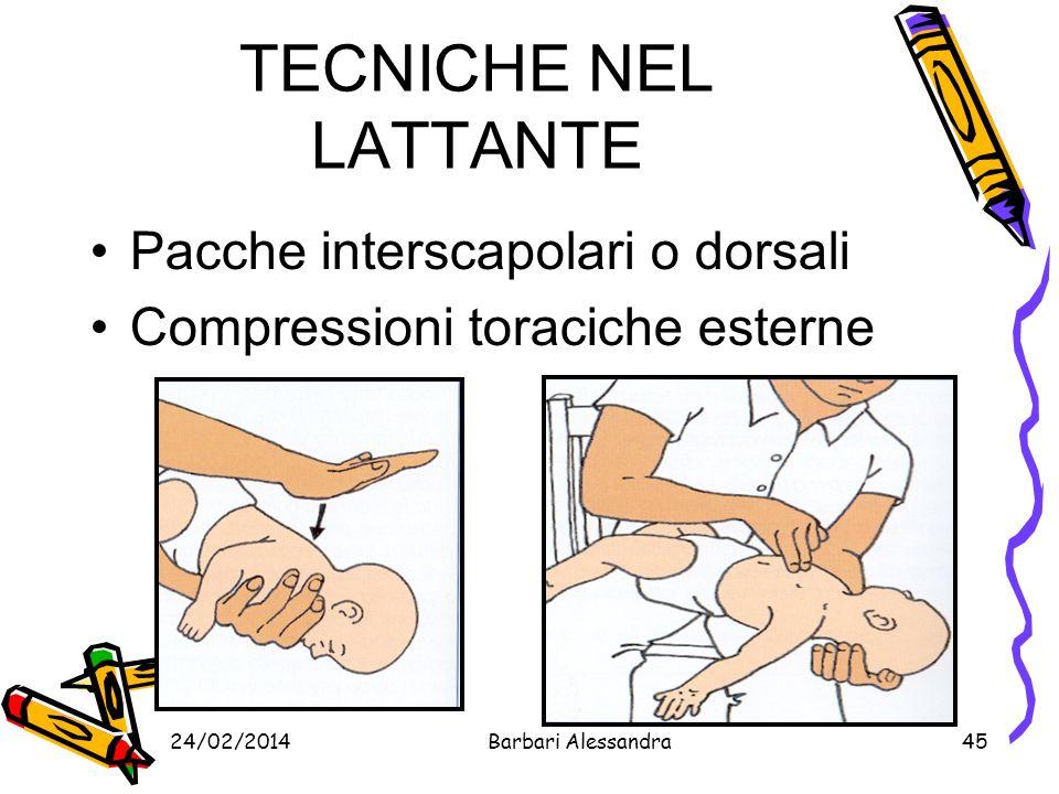 TECNICHE NEL LATTANTE Pacche interscapolari o dorsali