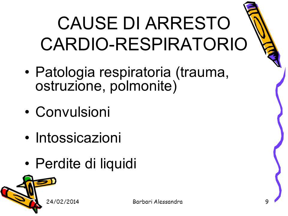 CAUSE DI ARRESTO CARDIO-RESPIRATORIO
