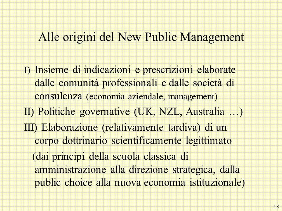 Alle origini del New Public Management