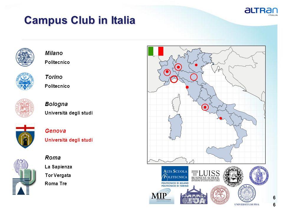 Campus Club in Italia Milano Torino Bologna Genova Roma Politecnico
