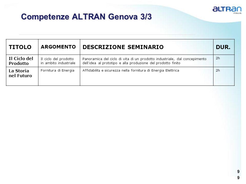 Competenze ALTRAN Genova 3/3