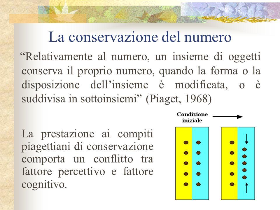 La conservazione del numero