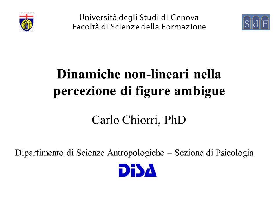 Dinamiche non-lineari nella percezione di figure ambigue