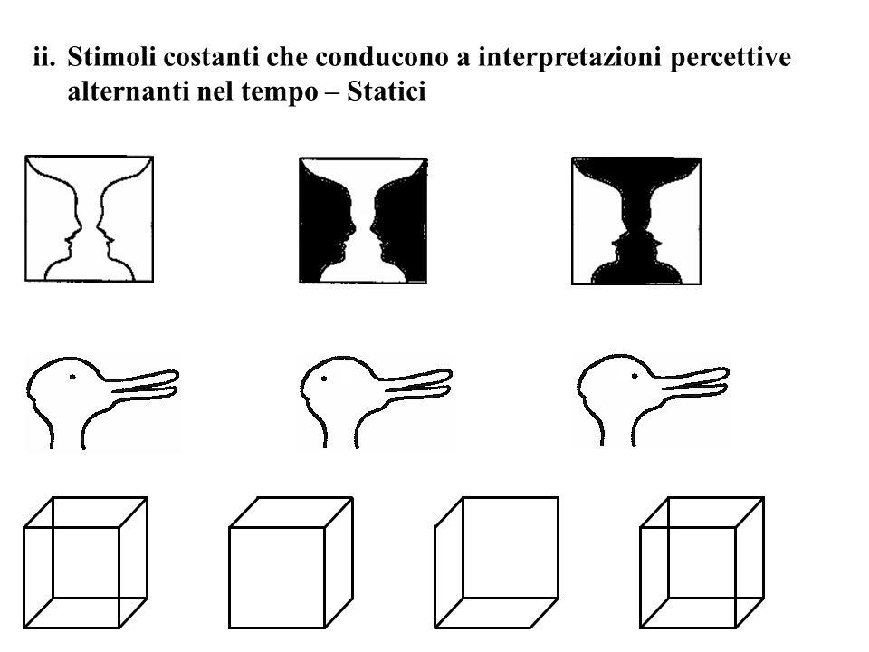 Stimoli costanti che conducono a interpretazioni percettive alternanti nel tempo – Statici