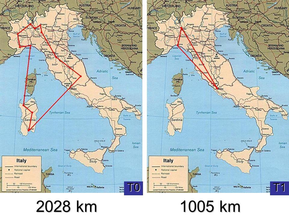 Seconda valutazione T0 T1 2028 km 1005 km