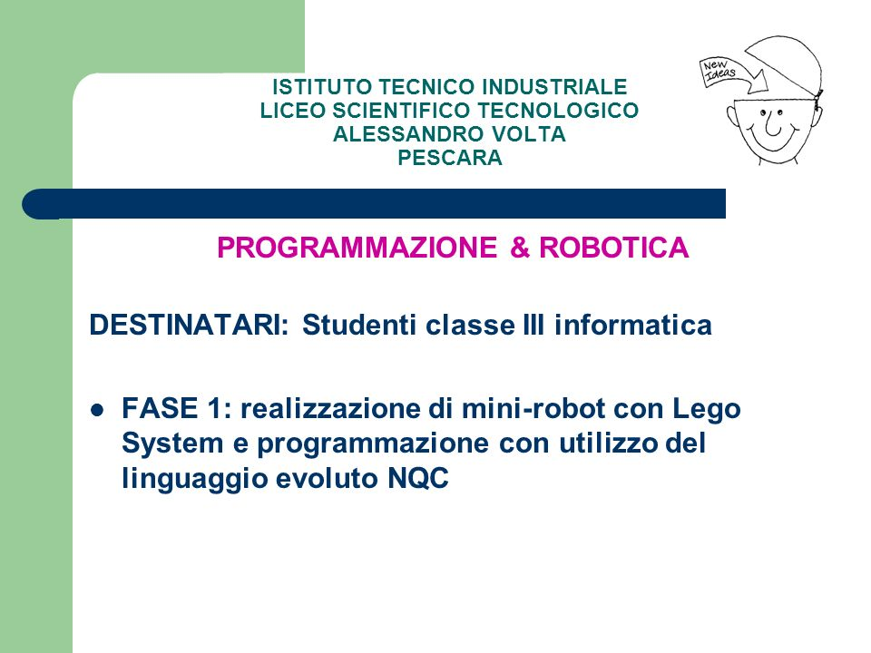PROGRAMMAZIONE & ROBOTICA