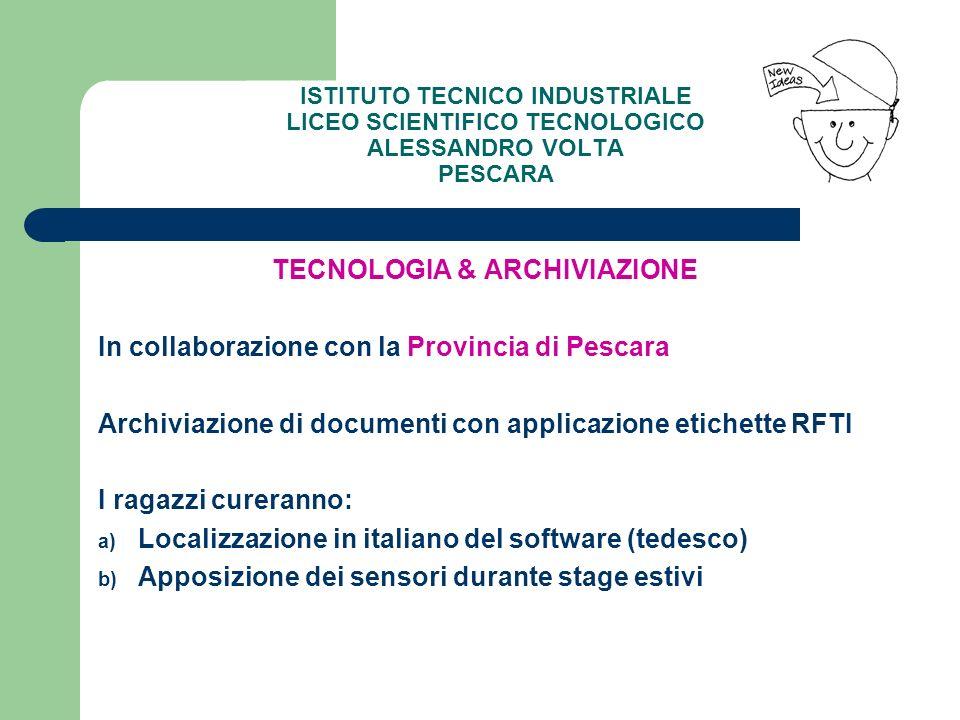 TECNOLOGIA & ARCHIVIAZIONE