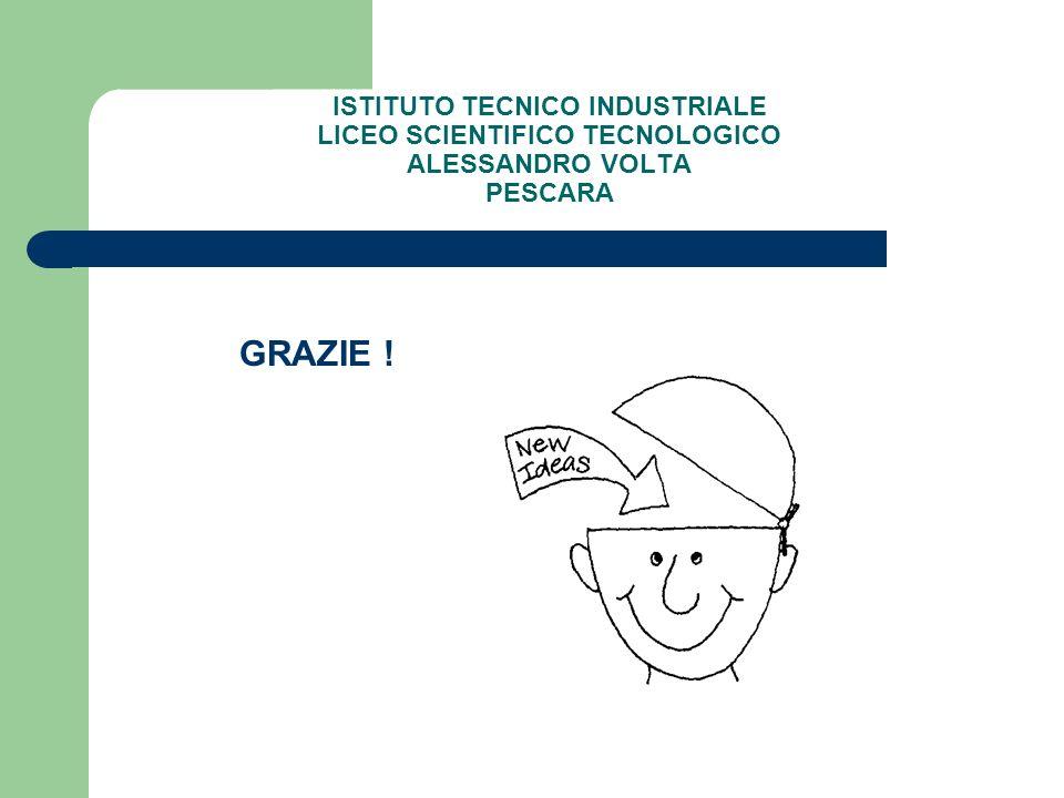 ISTITUTO TECNICO INDUSTRIALE LICEO SCIENTIFICO TECNOLOGICO ALESSANDRO VOLTA PESCARA