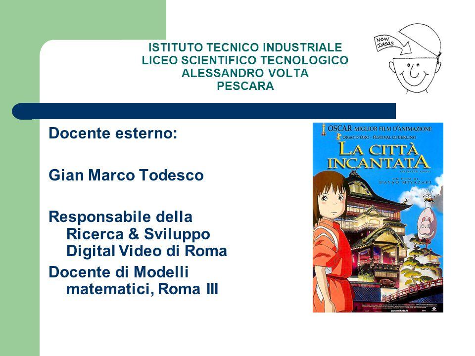 Responsabile della Ricerca & Sviluppo Digital Video di Roma