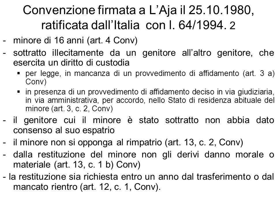 Convenzione firmata a L'Aja il 25. 10