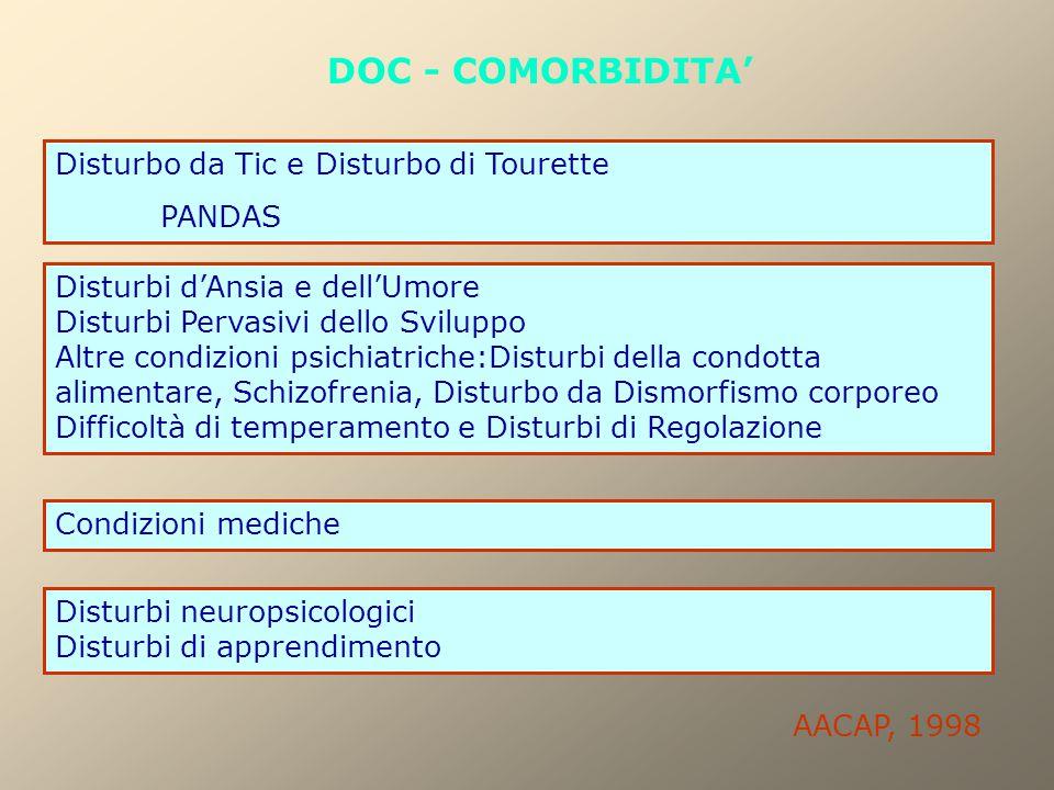 DOC - COMORBIDITA' Disturbo da Tic e Disturbo di Tourette PANDAS