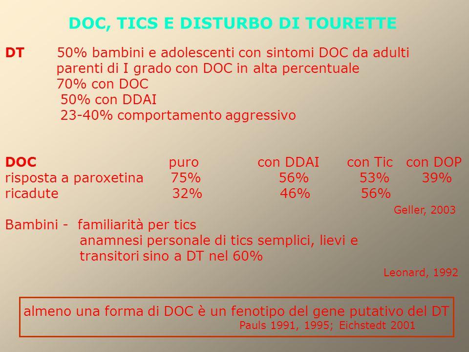 DOC, TICS E DISTURBO DI TOURETTE