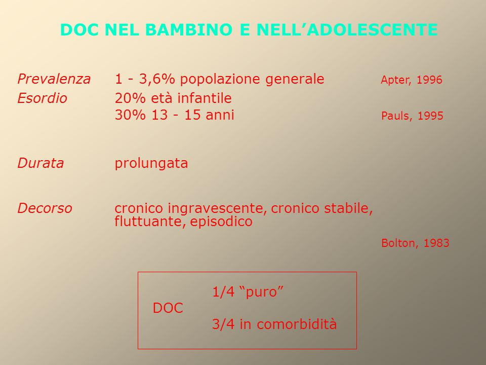 DOC NEL BAMBINO E NELL'ADOLESCENTE