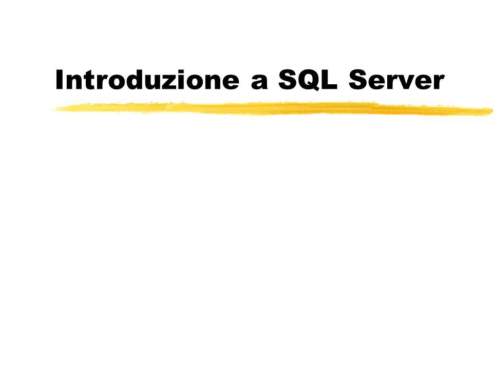 Introduzione a SQL Server