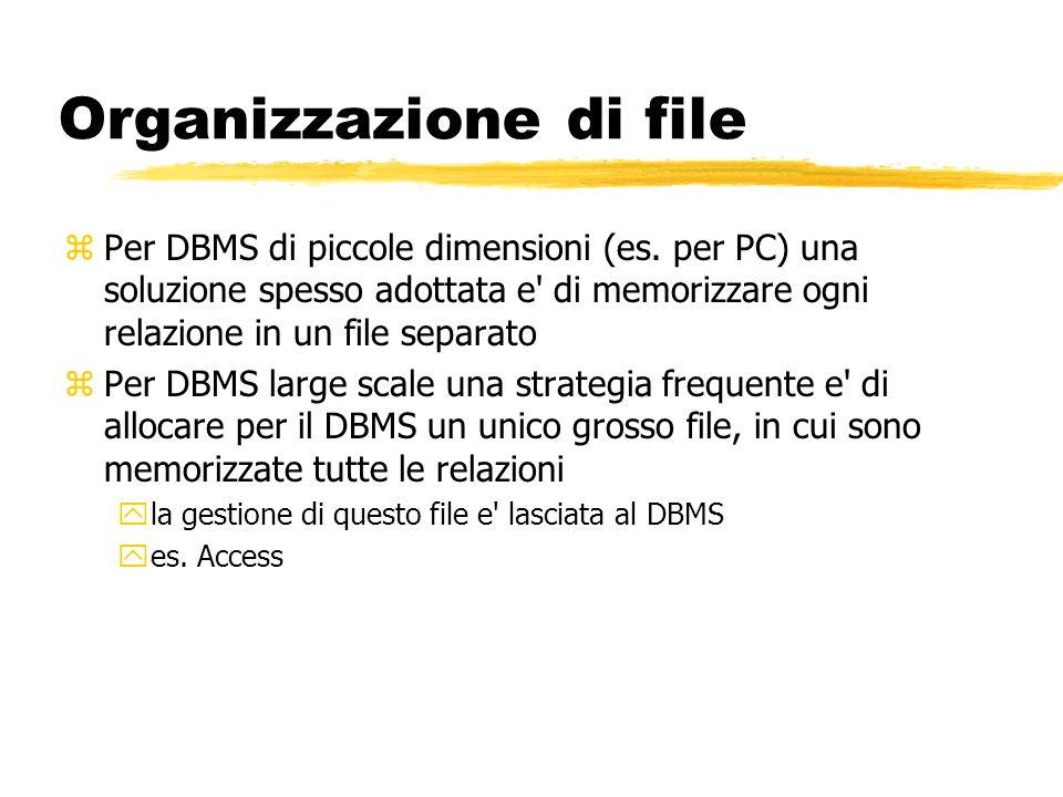 Organizzazione di file