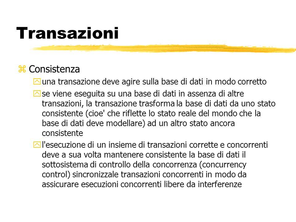 Transazioni Consistenza