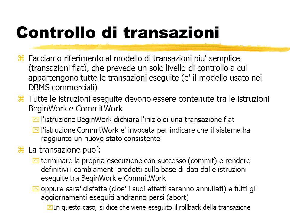 Controllo di transazioni