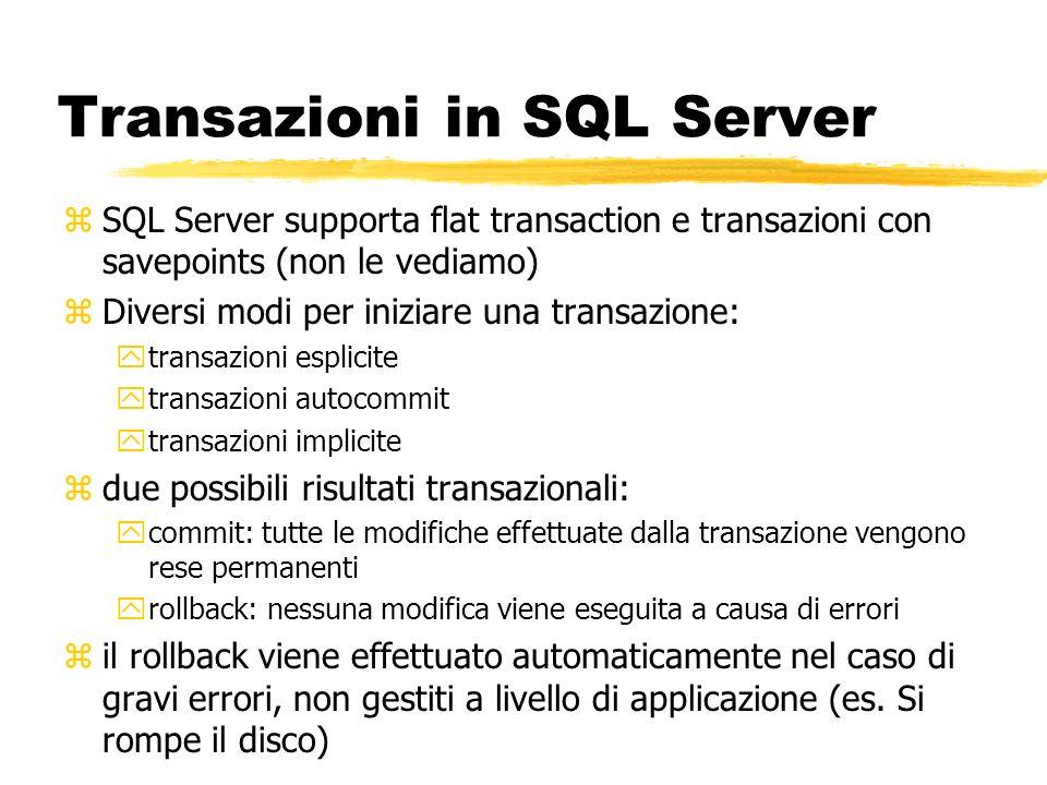 Transazioni in SQL Server