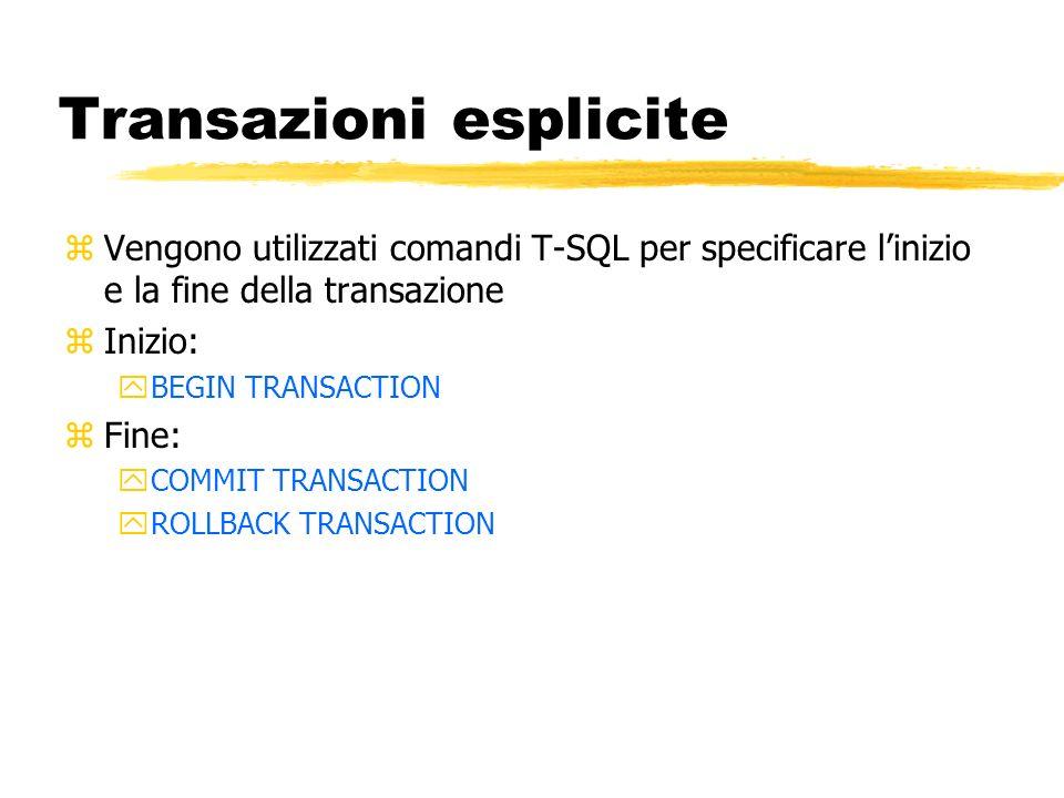 Transazioni esplicite