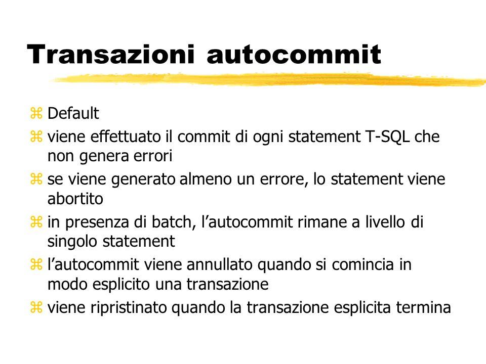 Transazioni autocommit