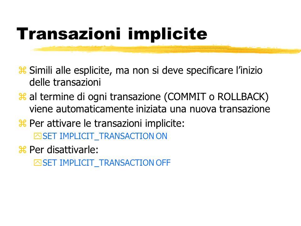 Transazioni implicite