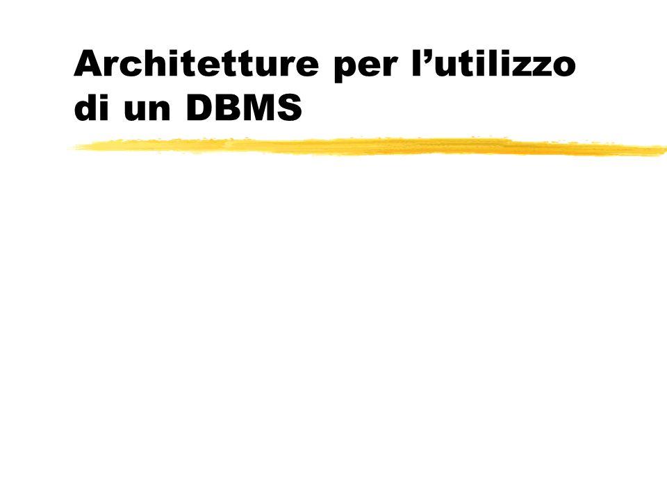 Architetture per l'utilizzo di un DBMS