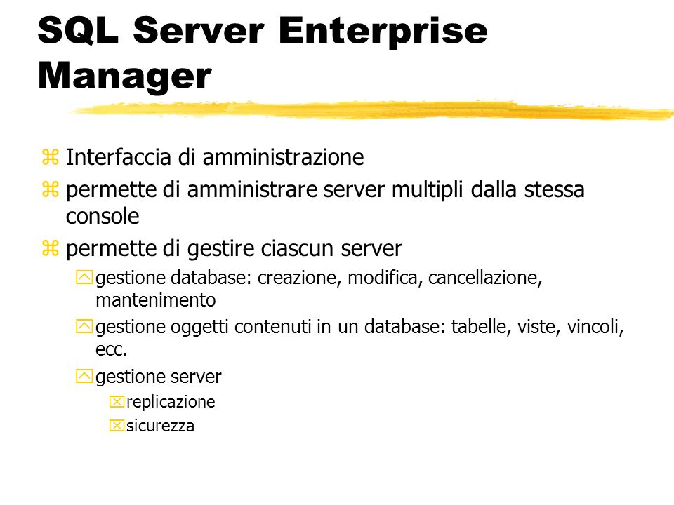 SQL Server Enterprise Manager