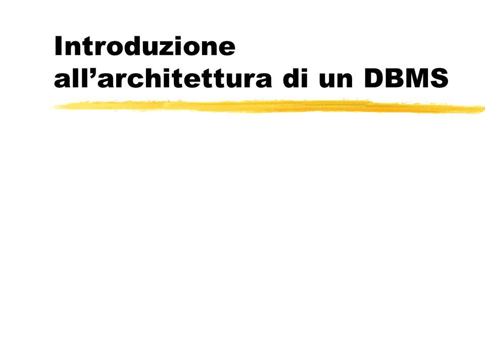 Introduzione all'architettura di un DBMS
