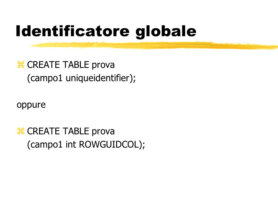 Identificatore globale