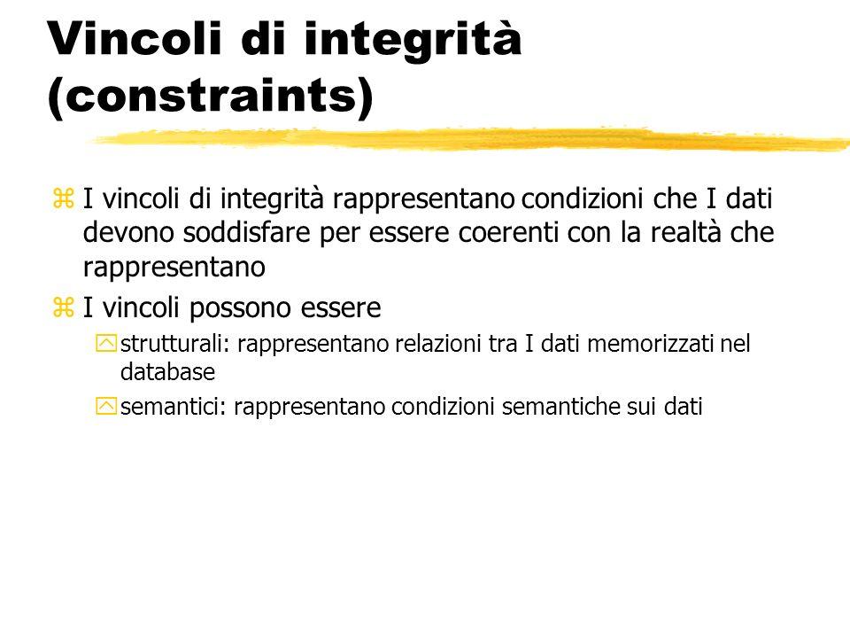 Vincoli di integrità (constraints)