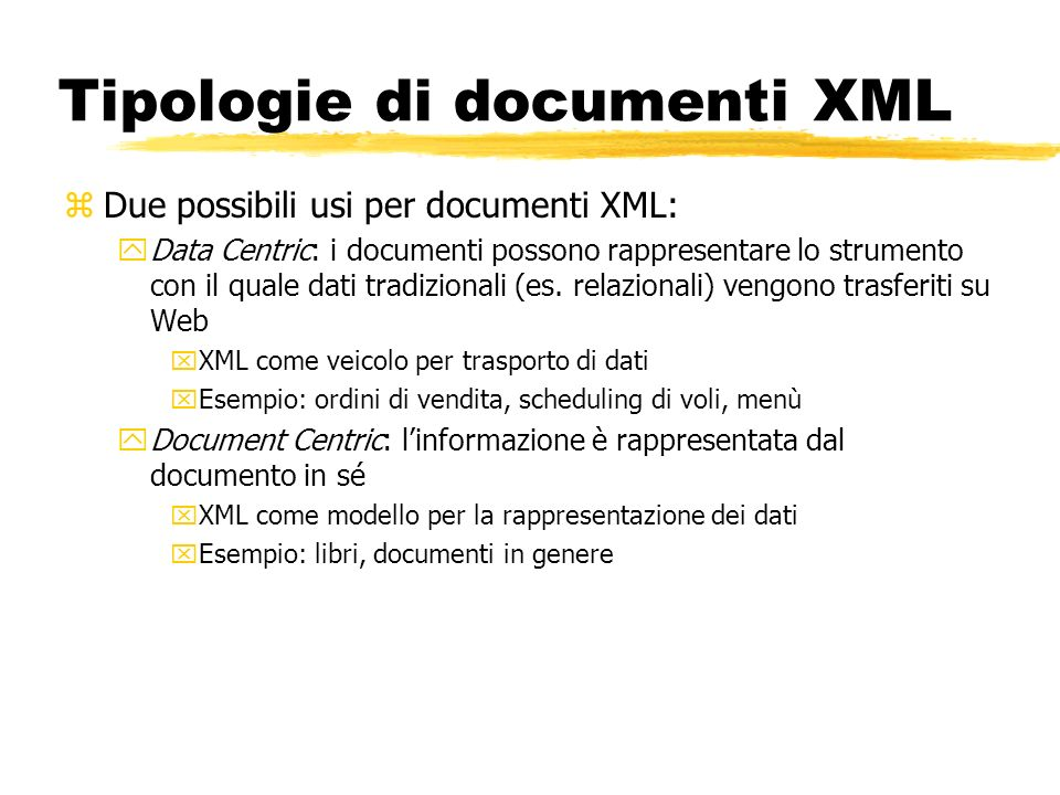 Tipologie di documenti XML