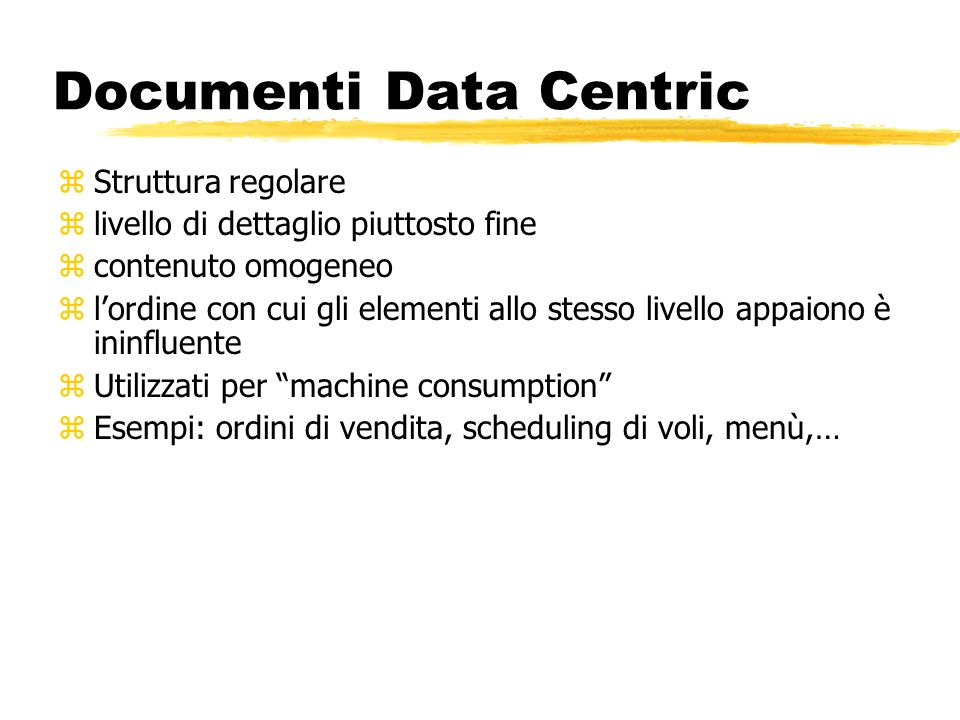 Documenti Data Centric